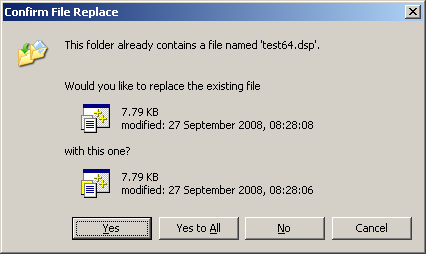 To File Xplorer² No Blog All Overwrite Control