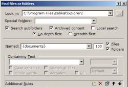find files and folders
